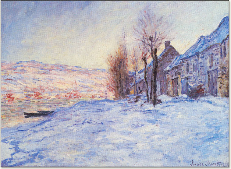 Claude Monet Lavacourt Under Snow