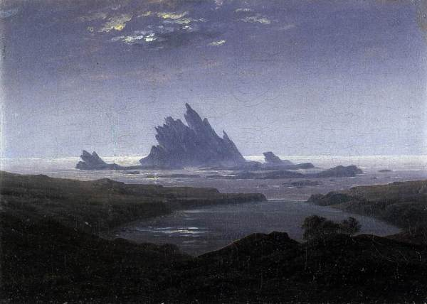 Caspar David Friedrich - Rocky Reef on the Sea Shore
