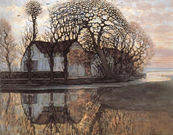 Piet Mondrian (Dutch painter, 1872 - 1944) Farm near Duivendrecht, c. 1916.