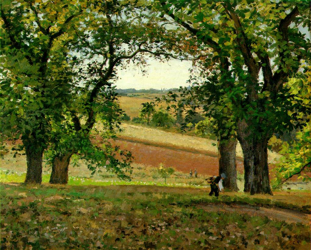 The Chestnut Trees at Osny) c. 1873