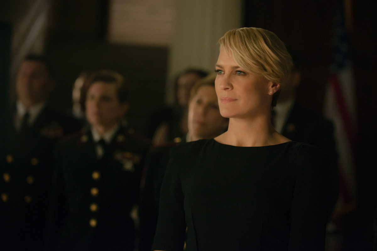"""Robin Wright in season 2 of Netflix's """"House of Cards."""" Photo credit: Nathaniel Bell for Netflix."""